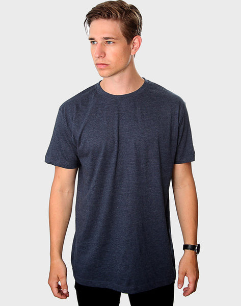 Regular Fit - Classic Crew Neck, Heather Navy
