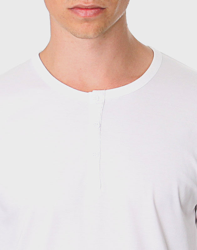 Fitted Fit - LS Button Down T-shirt, Hvid - ACC Store