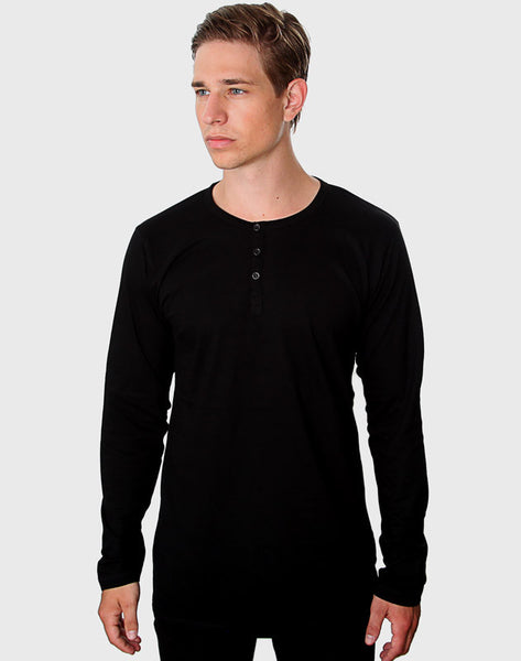Fitted Fit - LS Button Down T-Shirt, Sort - ACC Store