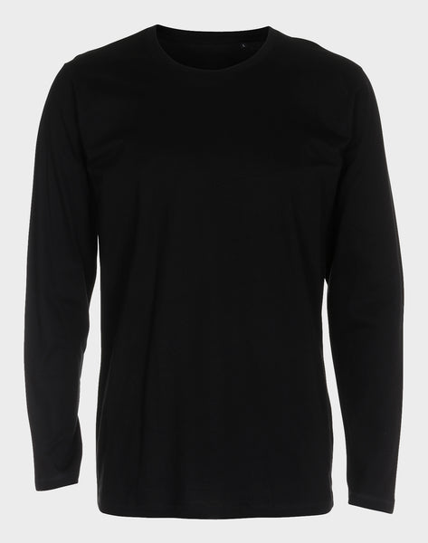 Fitted Fit - Modern Crew Neck LS, Sort T-shirt - ACC Store
