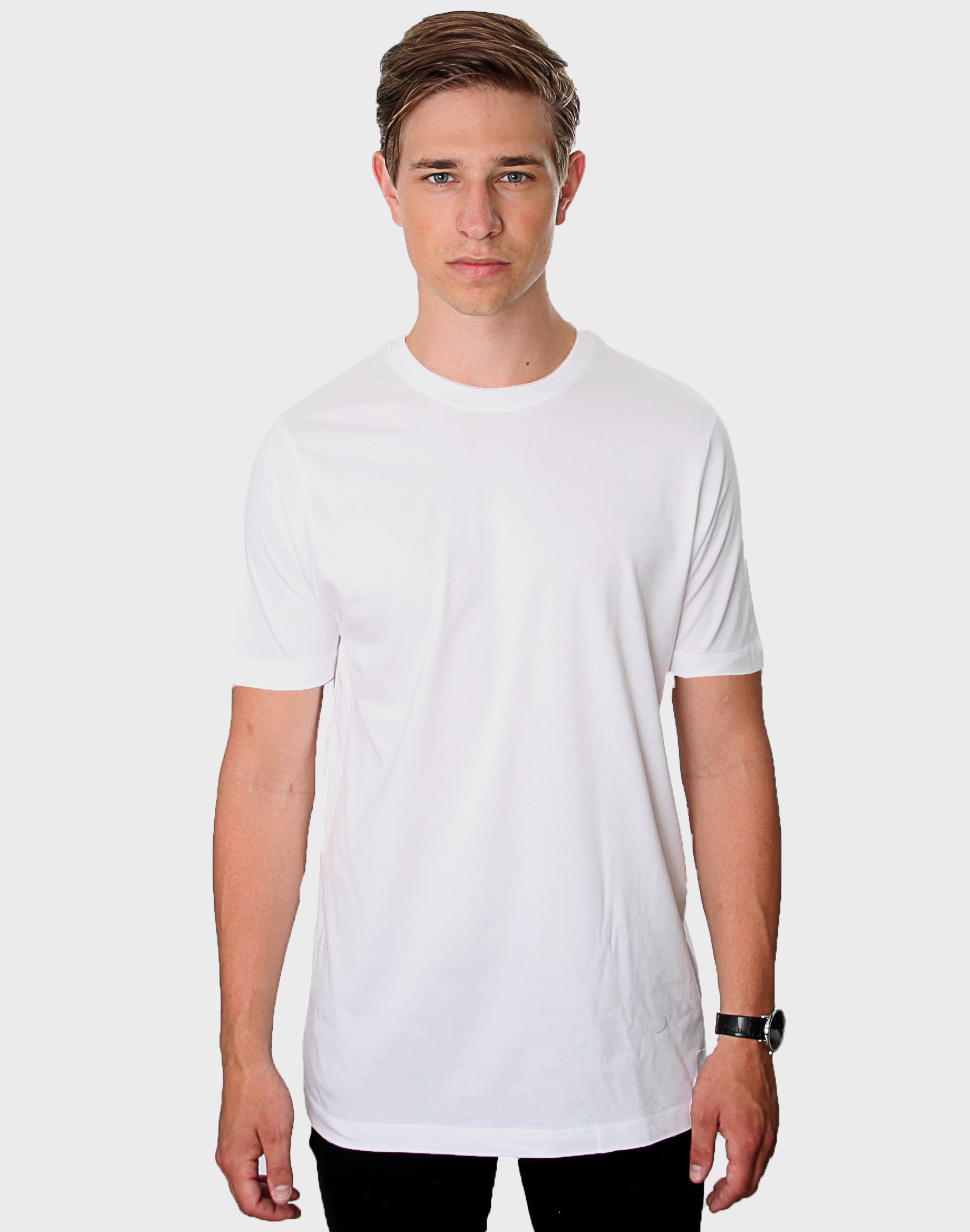 Fitted Fit - Muscle Tee, Hvid