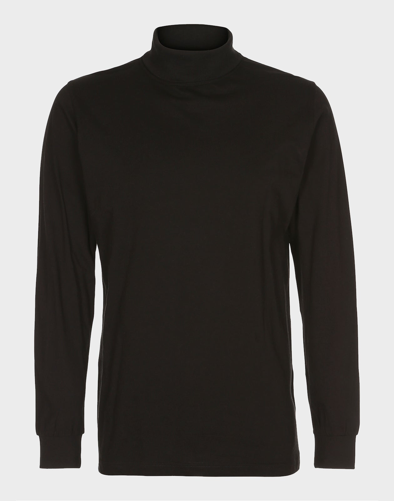 Fitted Fit - Turtle Neck Tee, Sort T-shirt - ACC Store