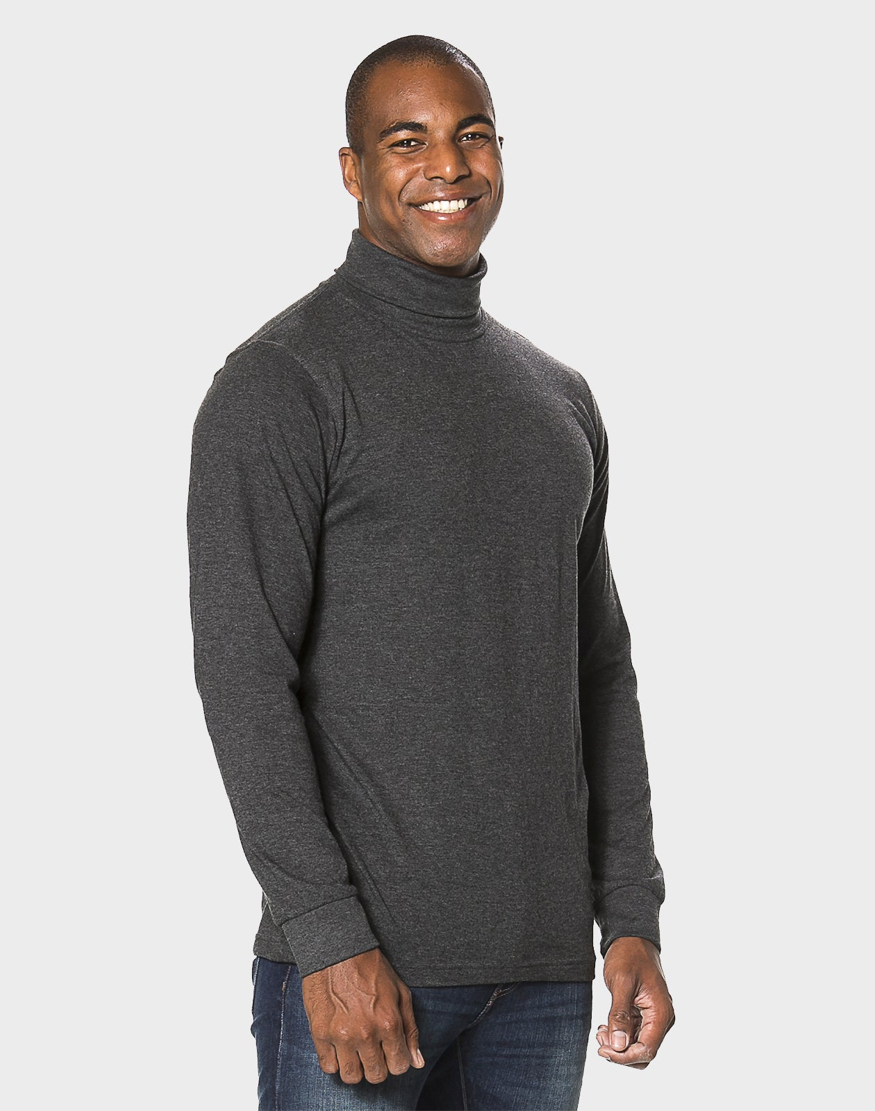 Fitted Fit - Turtle Neck Tee, Antrasit T-shirt - ACC Store