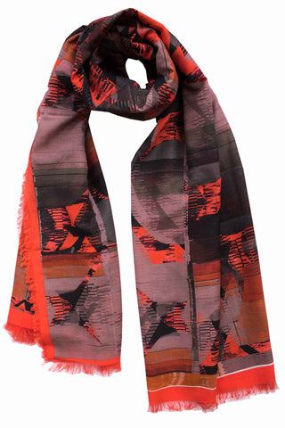 "Silk/Cotton ""Highline meets Fashion"" Stola 200 cm x 140 cm"