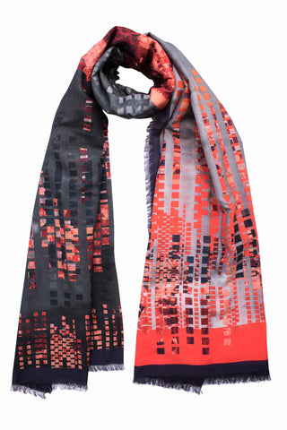 "Silk/Cotton ""Highline Lights"" Stola 200x140 cm"