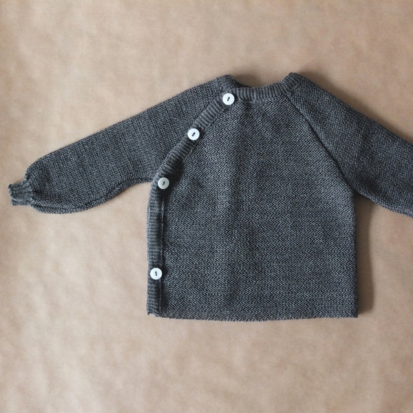Merino wool cardigan (grey)