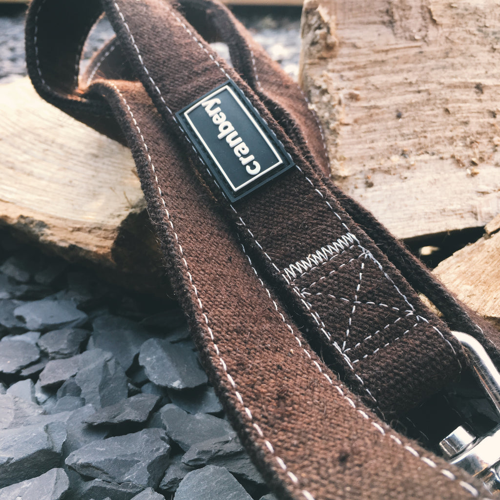 Brown Hemp Lead & Collar
