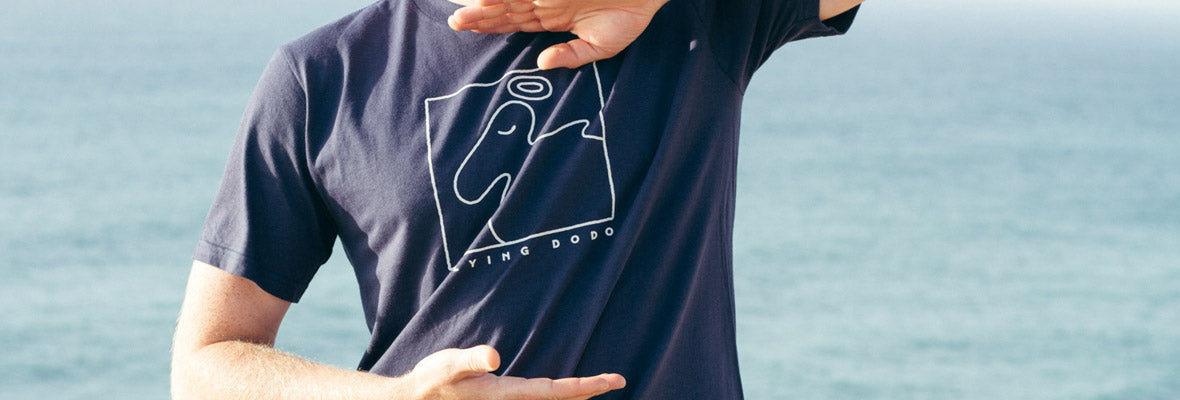 Mens organic cotton t-shirts - Flying Dodo Clothing Company Cornwall