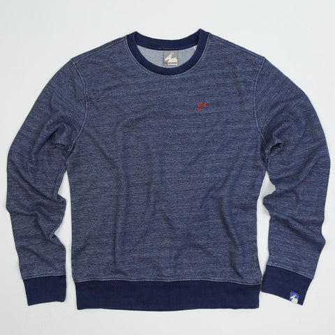 Men's Organic Cotton 'Lure' Sweatshirt - Deep Blue - Flying Dodo Clothing Company Cornwall