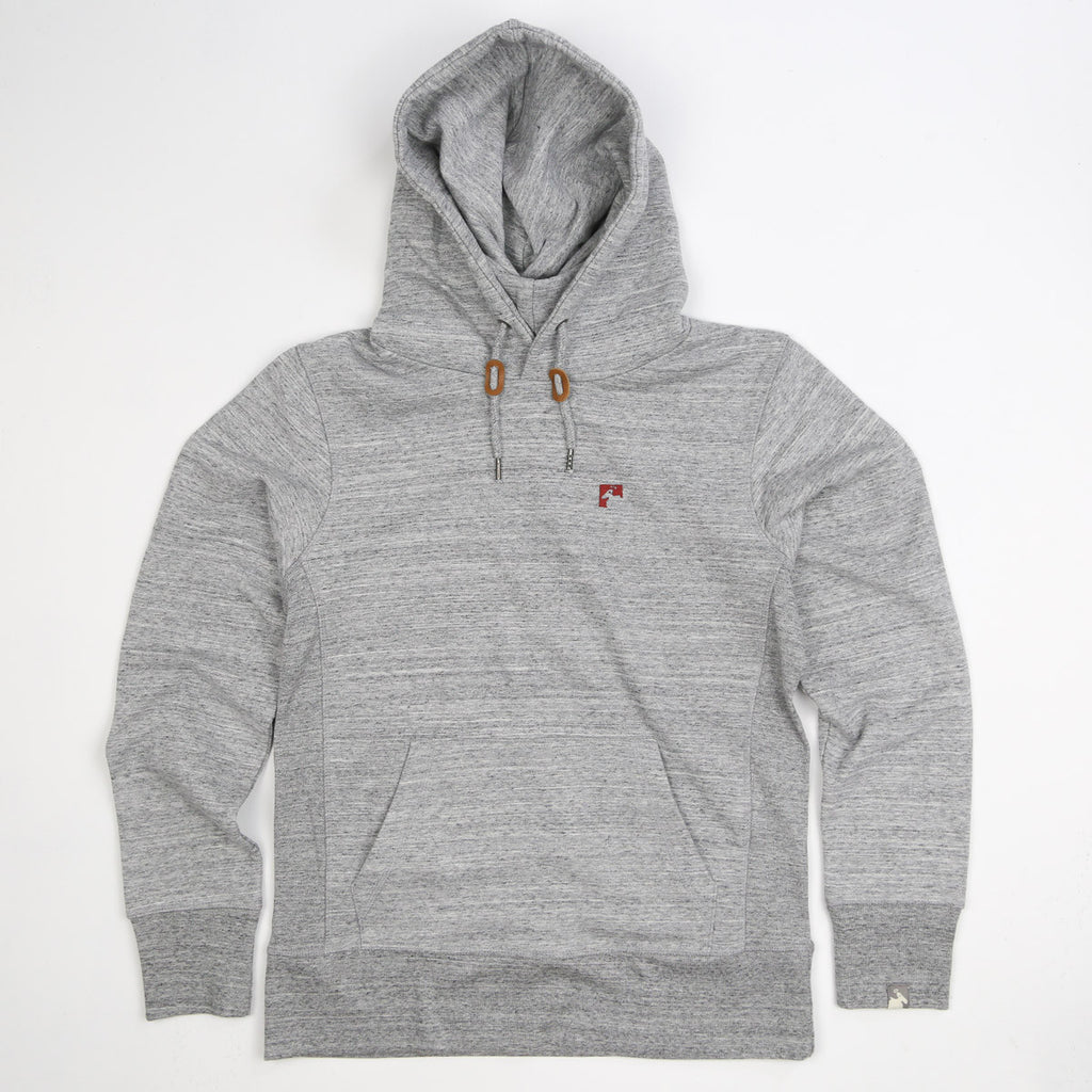 Men's Organic Cotton Heavyweight 'Bolster' Hoodie - Granite - Flying Dodo Clothing Company Cornwall
