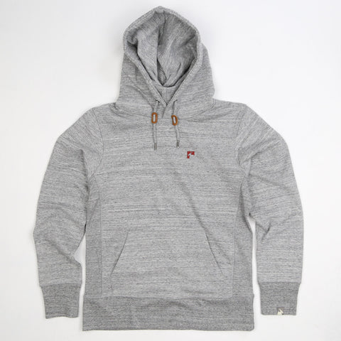 Men's Organic Cotton Heavyweight Bolster Hoodie - Granite - Flying Dodo Clothing Company Cornwall