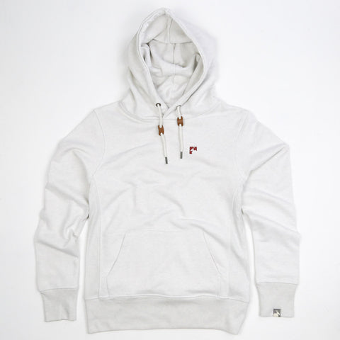 Men's Organic Cotton Heavyweight 'Bolster' Hoodie - Mist Grey - Flying Dodo Clothing Company Cornwall