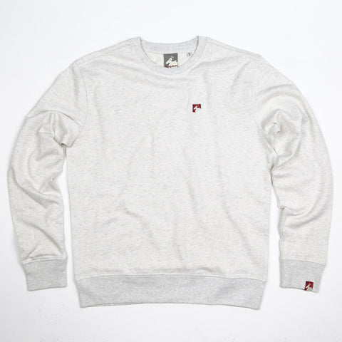 Men's Organic Cotton 'Lure' Sweatshirt - Mist Grey - Flying Dodo Clothing Company Cornwall