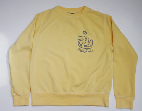 Women's 'Speckle Dodo' Sweatshirt - Butter - Flying Dodo Clothing Company Cornwall