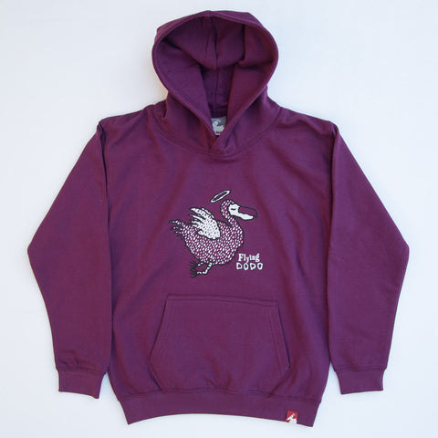 Classic Dodo Children's Hoodie - Deep Purple - Flying Dodo Clothing Company Cornwall