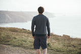 Men's Organic Cotton 'Lure' Sweatshirt - Slate - Flying Dodo Clothing Company Cornwall