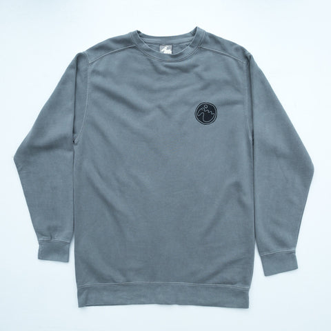 Men's 'Stamp Dodo' Sweatshirt - Lurcher Grey - Flying Dodo Clothing Company Cornwall