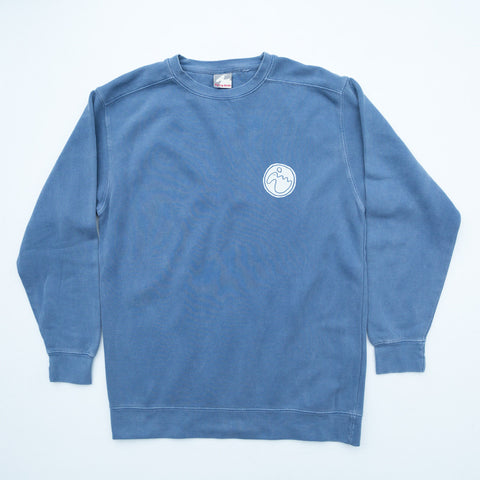 Men's 'Stamp Dodo' Sweatshirt - Perran Blue - Flying Dodo Clothing Company Cornwall