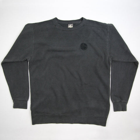 Men's 'Stamp Dodo' Sweatshirt - Black Pepper - Flying Dodo Clothing Company Cornwall