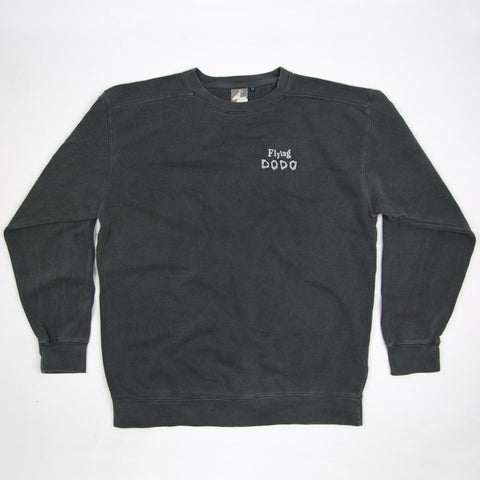 Men's 'Classic Dodo' Sweatshirt - Pepper - Flying Dodo Clothing Company Cornwall