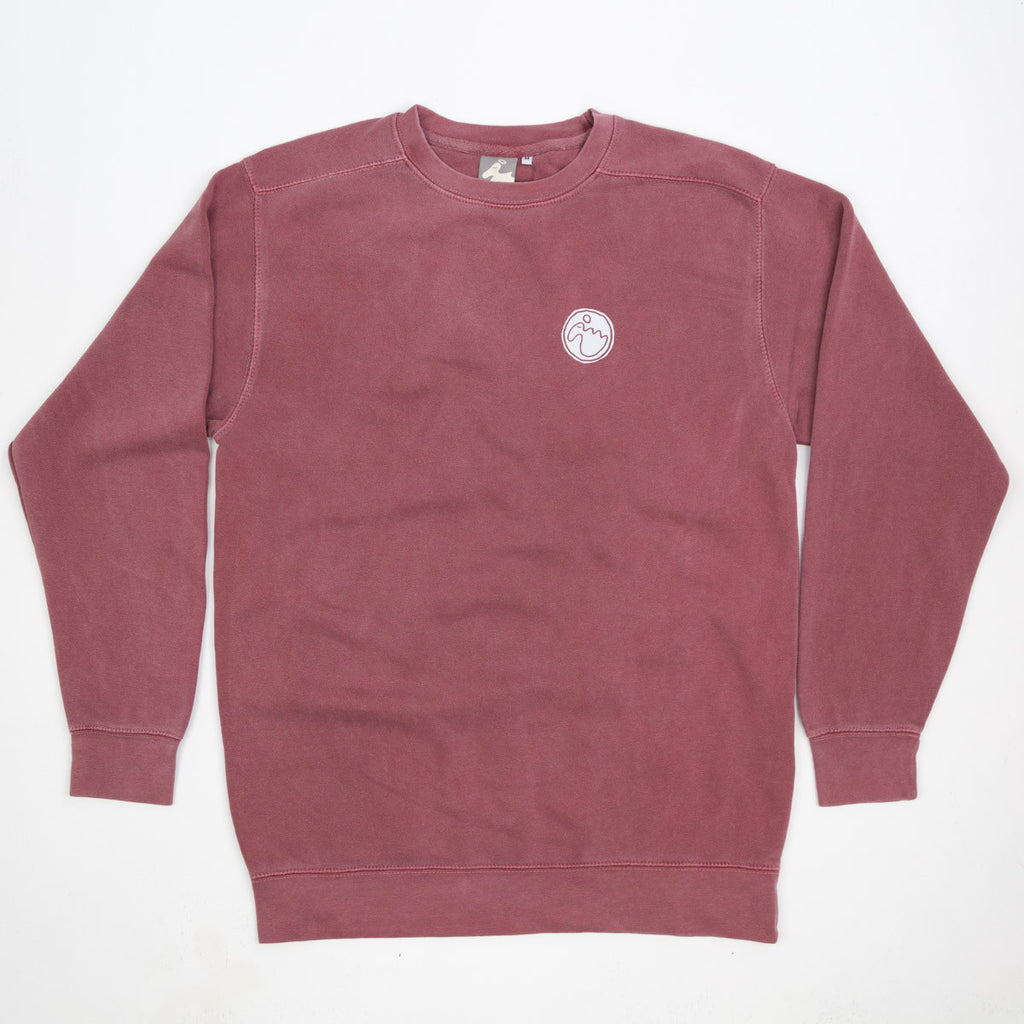 Men's 'Stamp Dodo' Sweatshirt - Brick Red - Flying Dodo Clothing Company Cornwall