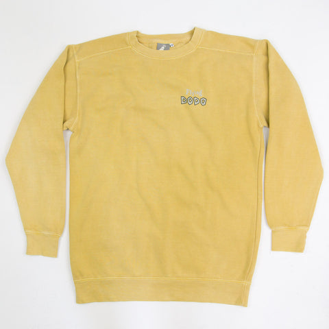Men's 'Classic Dodo' Sweatshirt - Mustard - Flying Dodo Clothing Company Cornwall
