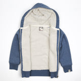 Children's Fleece Lined 'Shepherd' Hoodie - Heather Blue - Flying Dodo Clothing Company Cornwall