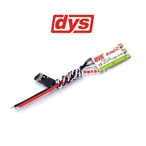 DYS XS20A ESC with no motor wires pre-soldered