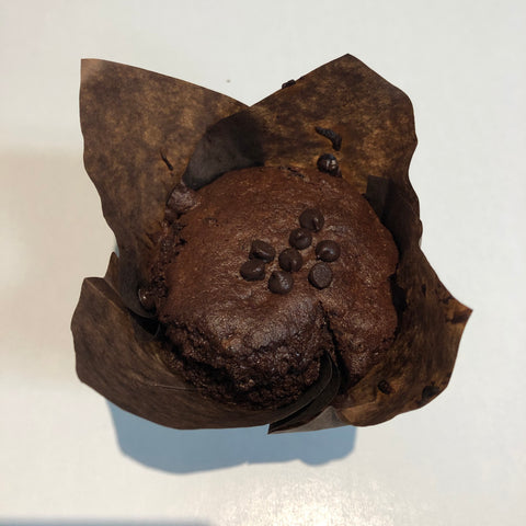 Gluten Free Double Chocolate Chip Muffin