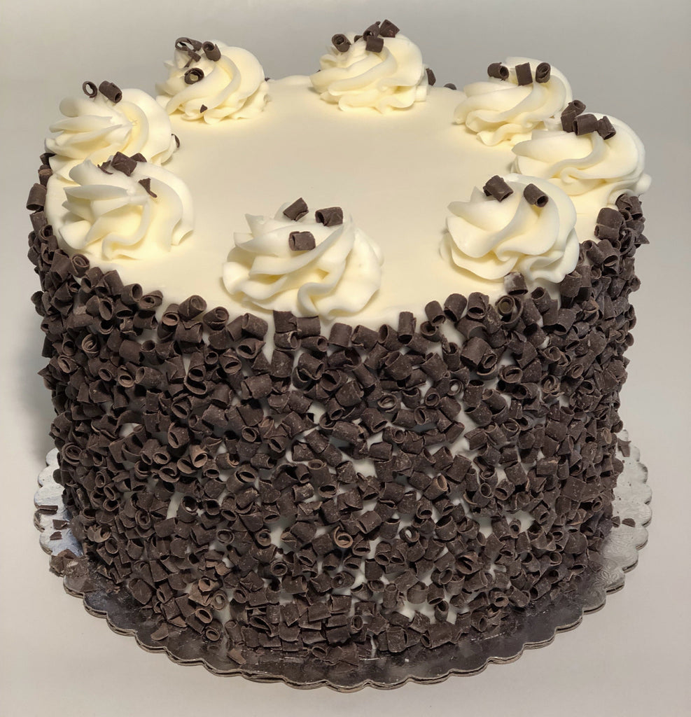 Chocolate Curls Custom Cake