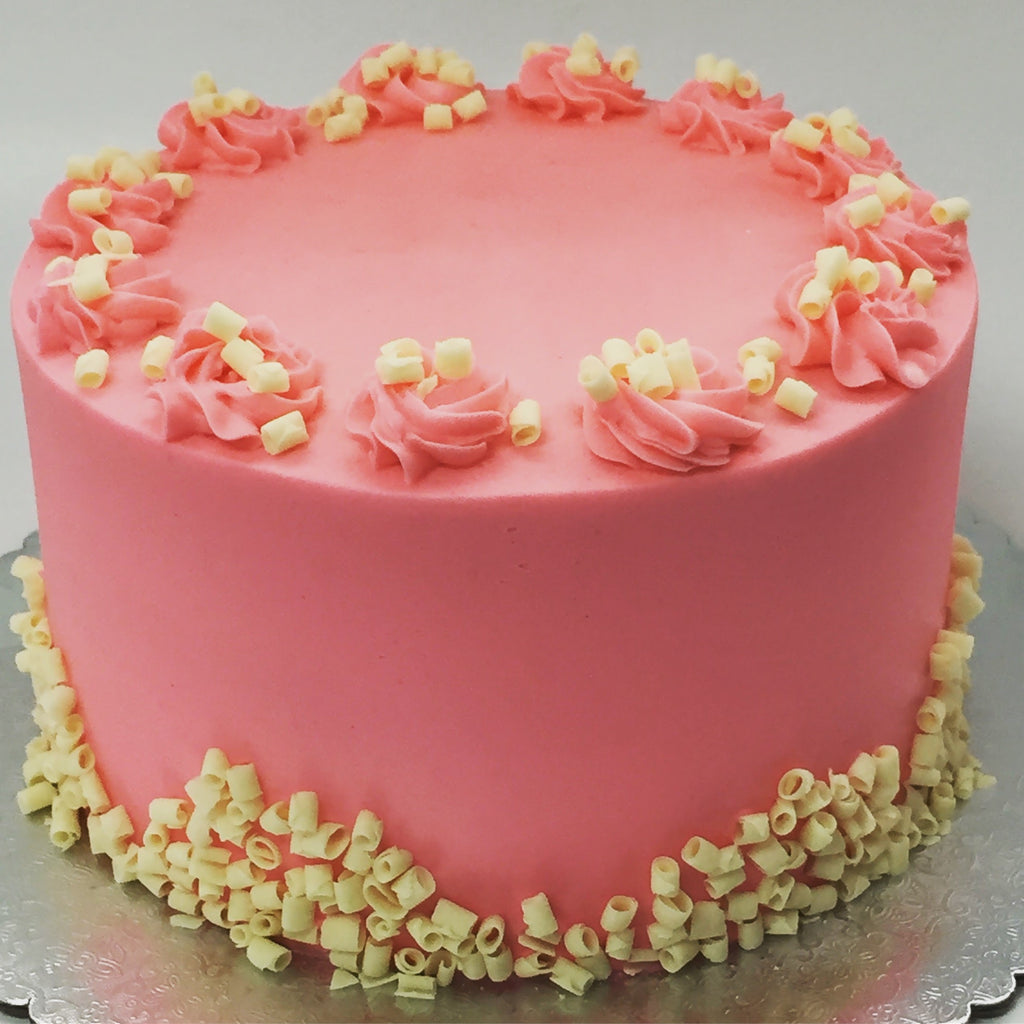 Pink & Chocolate Custom Cake