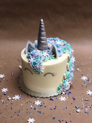 Winter Unicorn Custom Cake