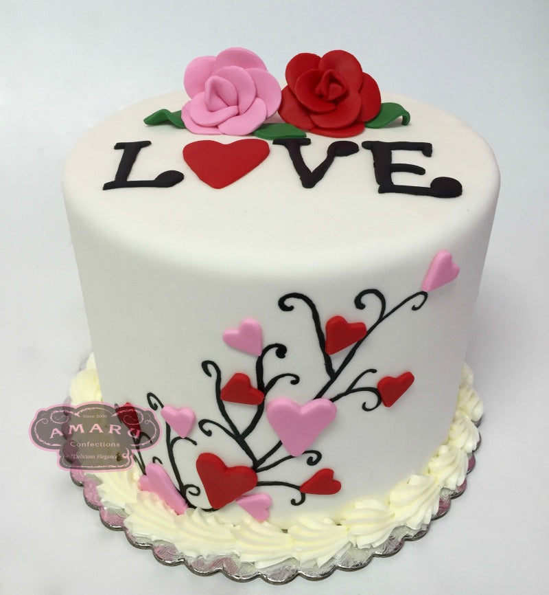 Valentines Day Love Custom Cake Amaru Confections