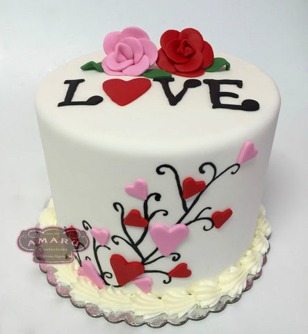 Valentine's Day Love Custom Cake