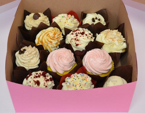 Variety of 12 Cupcakes or Mini Cupcakes