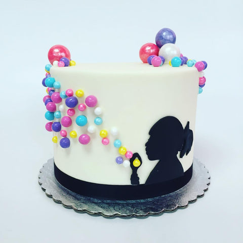 Blowing Bubbles Custom Cake