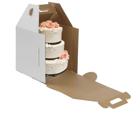 Tall White Cake Box