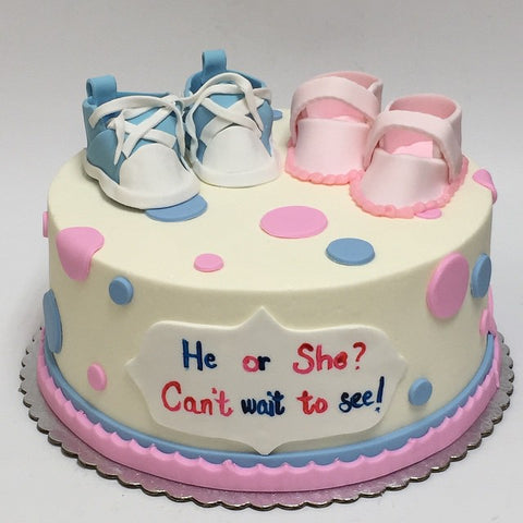 Gender Reveal Baby Shower Custom Cake