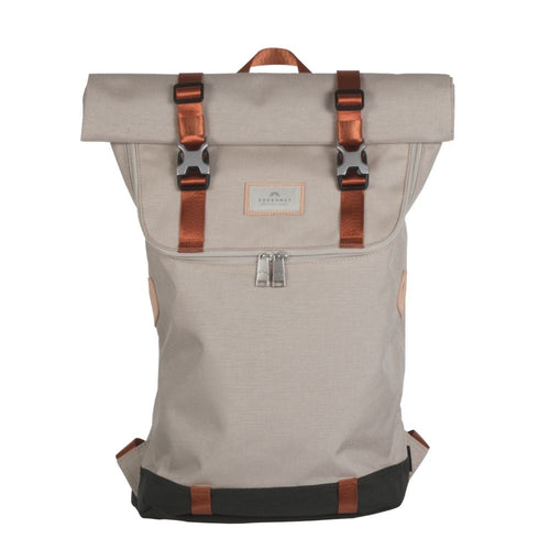 CHRISTOPHER roll-top backpack STONE CORDURA