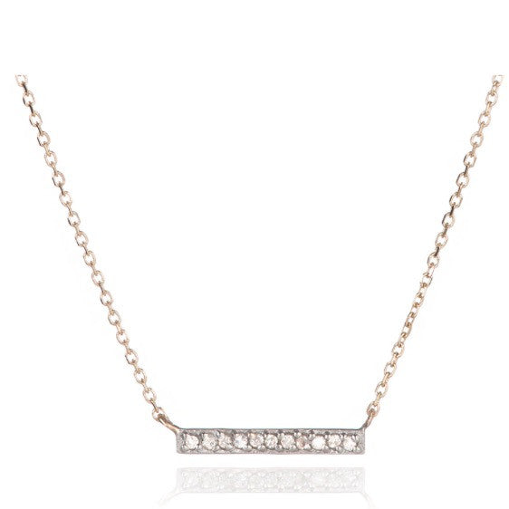 Adina Reyter Pave gold Bar Necklace