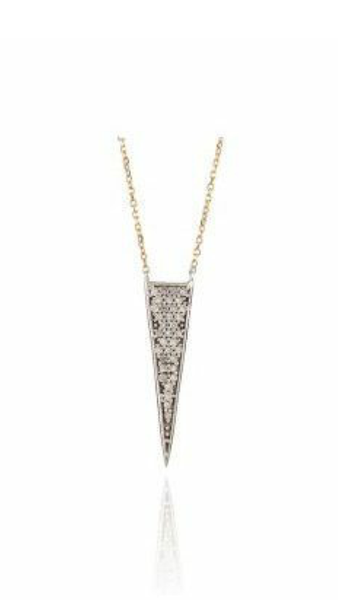 Adina Reyter Pave Long Triangle Necklace