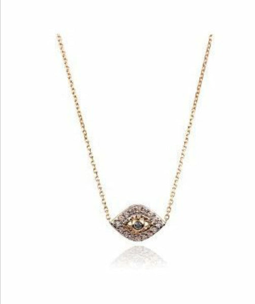 Adina Reyter 14K Pave Evil Eye Necklace