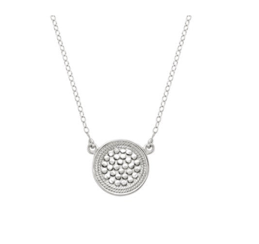 Anna Beck Mini Reversible Circle Necklace Silver
