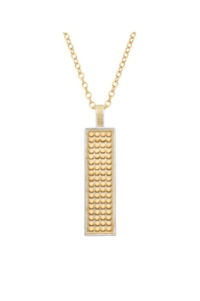 Anna Beck Gold Plated Bar Pendant Necklace 1609ngg