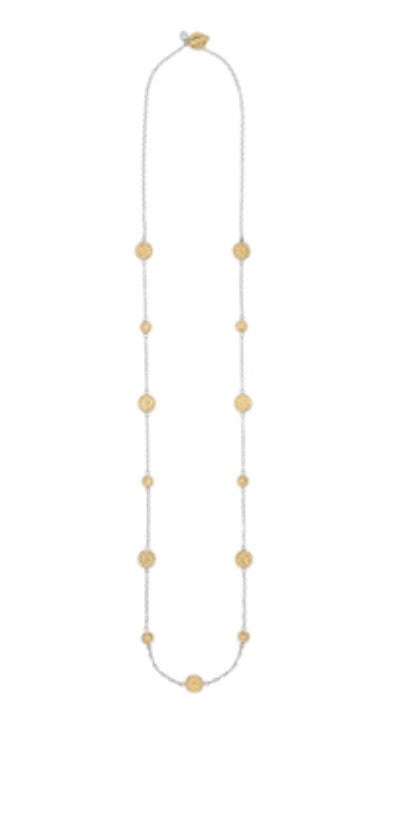Anna Beck Two Toned Multi Disc Necklace