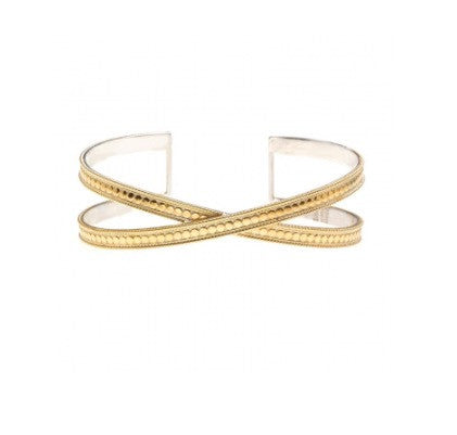 Anna Beck Criss Cross Cuff Gold 1336cgg