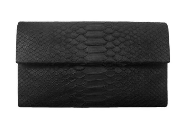 Fig Tree Python Clutch - Black