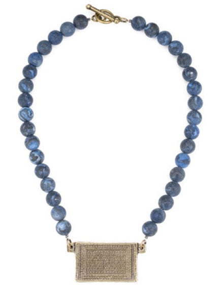 French Kande Indigo Jasper Necklace