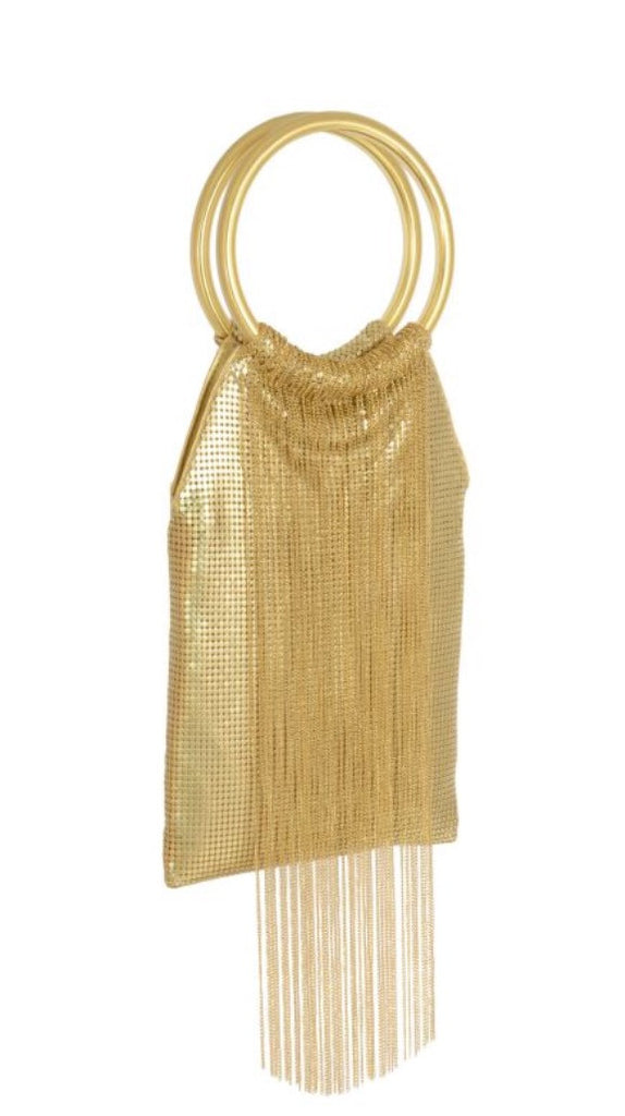 Whiting & Davis Gold Rush Fringe GOLD