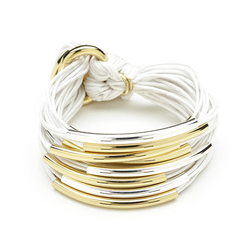 Gillian Julius Multi-Tubes Bracelet - White